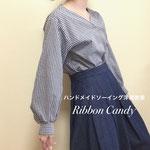 ドレスシャツ、バルーンスリーブ袖、オリジナル型紙レッスン