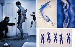 """Yves  Klein """"Abdrücke"""" Bild und Performance"""