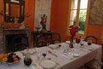 dinner aux Chambres de l'Abbaye. Chambres d'hôtes de charme