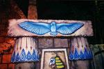 Sculpture de l'aigle - Fronton au-dessus de la porte d'Horus