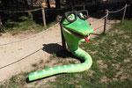 """Le Bois des Lutins - Tête du Serpent à Lunettes pour le parcours """"Le Dos du Serpent"""""""