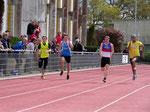 Valentin en finale du 100m