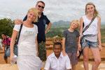 Gruppenfoto auf dem Sigiriya Löwenfelsen