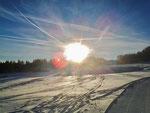 Sonnenschein und feiner Schnee: ein Traum zum Skifahren.