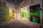 Peintures à droite 2 x 195 x 130 cm