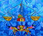 "Thomas Landt - ""Underwater-Love"" - Aquarell auf Büttenpapier - 42x34 cm - 2017 - Sylt"