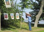 Thomas Landt - Kunstgraphik am Watt - Open-Air-Ausstellung - Sölring Keitum - August 2010 - Sylt