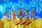 "Thomas Landt - ""Verkündung am Meer"" - Aquarell auf Büttenpapier - 35x50 cm - 2014 - Sylt"