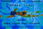 "Thomas Landt - Einladungskarte "" Neulandt "" - Sylt"