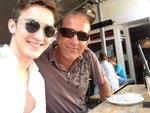 Thomas Landt - mit seinem Sohn Zino Pikrot im Lentini / HH-Eppendorf - 2013 - Sylt