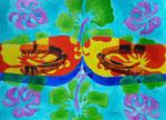 "Thomas Landt - ""Entweder - Oder""  Folge 2 Nr. 1 - Aquarell auf Büttenpapier - 30x40 cm - 2015 - Sylt"