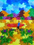 """Thomas Landt - """"Was ich tue zeigt mir, was ich suche"""" - Aquarell auf Büttenpapier - 65x50 cm - 2016 - Sylt"""