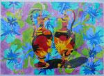 "Thomas Landt - ""Vase - Liebe III"" - Aquarell auf Büttenpapier - 35x50 cm - 2014 - Sylt"