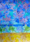 "Thomas Landt - ""Kampener Hauptstrand II"" - Aquarell auf Büttenpapier - 35x50 cm - 2014 - Sylt"