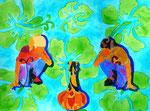 """Thomas Landt - """"Vase-Liebe IV Vis-a-Vis"""" - Aquarell auf Büttenpapier - 30x40 cm - 2015 - Sylt"""