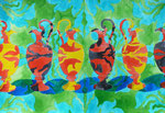 "Thomas Landt - ""Vase - Liebe II"" - Aquarell auf Büttenpapier - 35x50 cm - 2014 - Sylt"