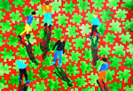 """Thomas Landt - """"bewegte Schatten in 6 aus 45"""" - Aquarell auf Büttenpapier - 50x65 cm - 2016 - Sylt"""