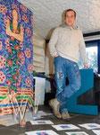 Thomas Landt  - in seinem Atelier - FuxBau Kampen - Artikel Sylter Nachrichten 2011 - Sylt