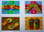 "Thomas Landt - "" Entweder - Oder I "" - 4x Aquarell auf Büttenpapier - jeweils 35 x 50 cm - 2014 - Sylt"