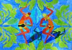 "Thomas Landt - ""die Walpurgis-Nacht"" - Aquarell auf Büttenpapier - 35x50 cm - 2014 - Sylt"