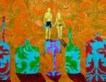 """Thomas Landt - """"Küss mich, ich bin eine verzauberte Vase"""" - Aquarell auf Büttenpapier - 58x45 cm - 2017 - Sylt"""