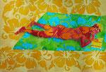 "Thomas Landt - ""B. auf Formetera"" - Aquarell auf Büttenpapier - 35x50 cm - 2014 - Sylt"