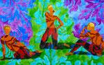 """Thomas Landt - """"Die 3 Tageszeiten"""" - Aquarell auf Büttenpapier - 65x42 cm - 2017 - Sylt"""