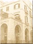Cava de' Tirreni - Corso Italia - Palazzo Della Corte color seppia