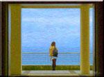 San Sebastian - Donna sul terrazzo