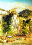 Dal mare: uno sguardo al Rione Olivieri