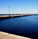 Veduta del Molo Audace, a Trieste. Un'immagine a me cara, perchè rappresenta bene Trieste e il suo mare