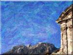 Cava de' Tirreni - Badia, Abbazia, cielo e monti