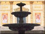 Cava de' Tirreni - Fontana dei Delfini che guarda il Duomo
