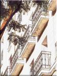 Madrid - Balconi a Calle del Principe de Vergara