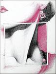 Poster per Carnevale - Penne a biro, 30X40 cm, 1984