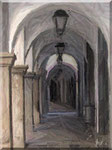 Cava de' Tirreni - Corso Umberto I, Portici e pastelli