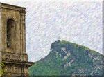 Cava de' Tirreni - Campanile, cielo e Monte S.Liberatore