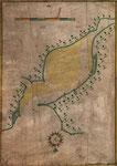 c.1589 Mapa inglés de la Bahía de Santander elaborado durante la expedición de Francis Drake contra España