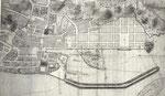 1780 Segundo plano del Proyecto de Dársena realizado por Juan de Escofet y Fernando de Ulloa