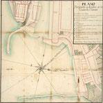 """1759 """"Plano del Castillo y Muelles de la Ciudad de Santander"""""""
