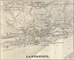 1861 Plano de Santander por Francisco Coello