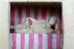 Kiste 12, Pappelholz, Farbe, 2012
