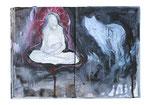 o.T. (wolf)  22x26cm  Acryl auf Buch  2013