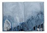 o.T. (book II) 20x25cm  Acryl auf Buch  2013