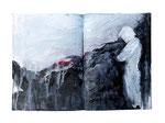 o.T.   20x22cm  Acryl auf Buch  2013  (sold)