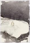 """""""Der Felsenring ist leer. Die Sterne flimmern. Alles schweigt. / Blatt 60 """" 21x14cm 2013"""