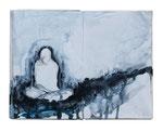 o.T. (book IX) 20x25cm  Acryl auf Buch  2013