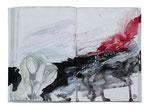 o.T. (book V)  22x27m  Acryl auf Buch  2013 (sold)