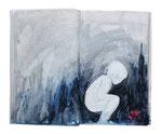 untold stories (10)  20x24cm  Acryl auf Buch  2013