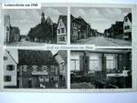 Leimerheim / Pfalz: Postkarte mit Ortsansichten.   Leimersheim ist der Heimatort meiner direkten Vorfahren und von Verwandten. (Foto: Repro Ochsenreither)